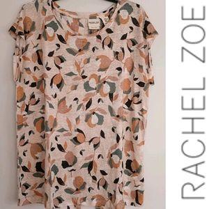 ⬇️ Rachel Zoe 100% Linen spring floral blouse